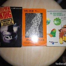 Libros de segunda mano: 3 LIBROS, EL MISTERIO DE SALEMS LOT, EL REGRESO DE DOBLE P. MUJER Y PSICOLOGIA. Lote 72409531