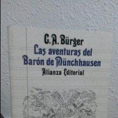 Libros de segunda mano: LAS AVENTURAS DEL BARÓN DE MUNCHHAUSEN, ALIANZA EDITORIAL. Lote 72821499