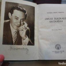 Libros de segunda mano: OBRAS TEATRALES ESCOGIDAS, ENRIQUE JARDIEL PONCELA.AGUILAR 1948.UNA NOCHE DE PRIMAVERA SIN SUEÑO. Lote 73414447