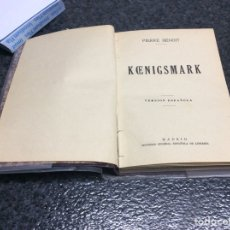 Libros de segunda mano: KOENIGSMARK / PIERRE BENOIT. Lote 73436491