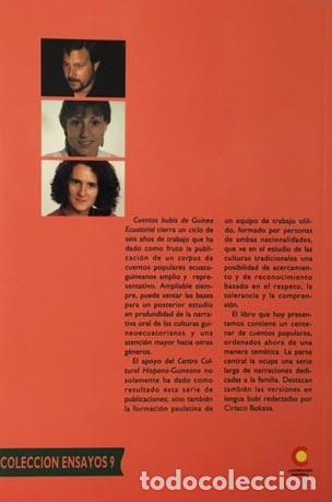 Libros de segunda mano: Cuentos bubis de Guinea Ecuatorial (Centro Hispano-Guineano, Ex-colonias) Jacint Creus, Mª Anto - Foto 2 - 74653275