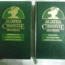 Libros de segunda mano: DOS LIBROS DE AGATHA CHRISTIE. DE LA COLECCION OBRAS COMPLETAS. Lote 53524227
