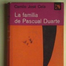 Libros de segunda mano: LA FAMILIA DE PASCUAL DUARTE - CAMILO JOSE CELA - DESTINO, ANCORA Y DELFIN Nº 63, 1963, 1ª EDICION . Lote 77846705