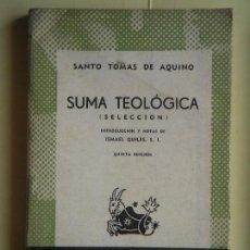 Libri di seconda mano: SUMA TEOLOGICA (SELECCION) - SANTO TOMAS DE AQUINO - ESPASA, AUSTRAL Nº 310, 1953 (DIFICIL). Lote 78436729