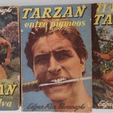 Libros de segunda mano: TARZAN. LOTE DE TRES LIBROS. EDT. GUSTAVO GILI, S.A.. Lote 80843463