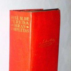 Libros de segunda mano: OBRAS COMPLETAS DE JOSE MARÍA DE PEREDA.. Lote 81150132