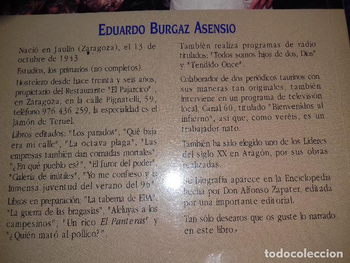 Libros de segunda mano: Perdón, doctores, perdón-Eduardo Burgaz Asensio-EDICIONES LOS FUEROS 1999-DEDICATORIA AUTOR EN HOJA - Foto 5 - 82674352
