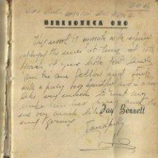 Libros de segunda mano: CATACUMBAS. DEDICADO POR AUTOR. JAU BENNET. EDITORIAL MOLINO. BARCELONA. 1961. Lote 84303840