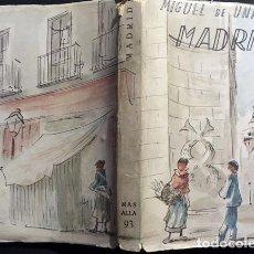 Libros de segunda mano: UNAMUNO : MADRID. (AFRODISIO AGUADO, COLECCIÓN MÁS ALLÁ, 1953. Lote 89880308