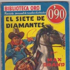 Libros de segunda mano: BIBLIOTECA ORO Nº 44. EL SIETE DE DIAMANTES POR MAX BRAND. 1ª EDICIÓN MOLINO 1940.. Lote 91844505