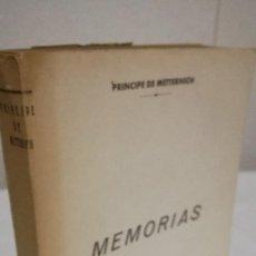 Libros de segunda mano: 90-MEMORIAS, PRINCIPE DE METTERNICH, 1959. Lote 92252450