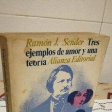 Libros de segunda mano: 37-TRES EJEMPLOS DE AMOR Y UNA TEORIA, RAMON J. SENDER, 1969. Lote 93043690