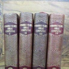Libros de segunda mano: WENCESLAO FERNÁNDEZ FLÓREZ. OBRAS COMPLETAS. 4 VOLS. AGUILAR. JOYA. 1950.. Lote 94560283