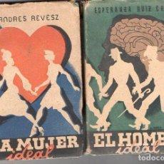 Libros de segunda mano: EL HOMBRE IDEAL Y LA MUJER IDEAL - DOS TOMOS (AFRODISIO AGUADO, 1943/45) . Lote 95619627