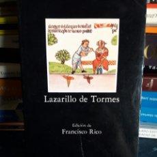 Libros de segunda mano: LAZARILLO DE TORMES. CATEDRA. LIBRO.. Lote 95798099