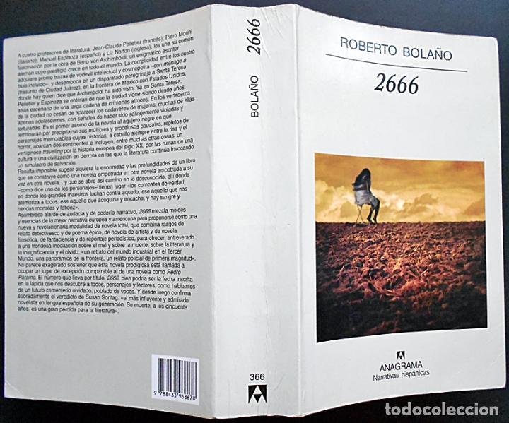 Libros de segunda mano: 2666 - Roberto Bolaño - Anagrama (Narrativas hispánicas) 2004 - Foto 3 - 96742991