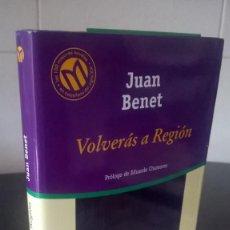 Libros de segunda mano: 15-VOLVERAS A REGION, JUAN BENET, 2001. Lote 98127923