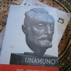 Libros de segunda mano: LIBRO UNAMUNO DEL SENTIMIENTO TRÁGICO DE LA VIDA 1ª ED. 1965 PLENITUD L-15663. Lote 98151571