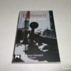 Libros de segunda mano: DASHIELL HAMMETT. LA LLAVE DE CRISTAL. ALIANZA EDITORIAL.. Lote 98699731