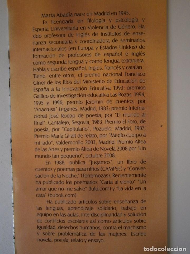 Libros de segunda mano: EL CANARIO DESNUDO Marta Abadia Vision Libros 2009 - Foto 6 - 98940679