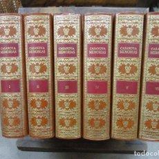 Libros de segunda mano: MEMORIAS DE JACOBO CASANOVA DE SEINGALT. 1979. 6 VOLS. ED. NUMERADA E ILUSTRADA. . Lote 100498895
