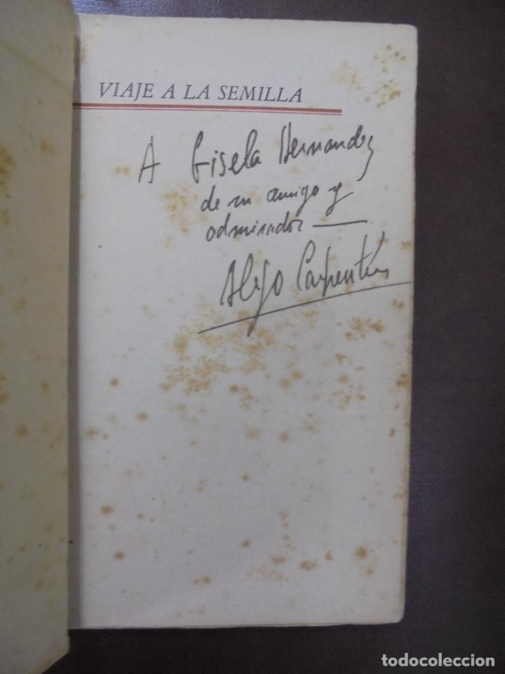 Libros de segunda mano: VIAJE A LA SEMILLA.1ª EDICION. ALEJO CARPENTIER. LA HABANA. 1944.DEDICATORIA MANUSCRITA AUTOR. LEER - Foto 5 - 100590639