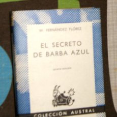 Libros de segunda mano: EL SECRETO DE BARBA AZUL WENCESLAO FERNÁNDEZ FLÓREZ. Lote 101244283