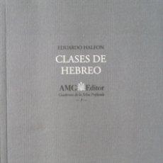 Libros de segunda mano: CLASES DE HEBREO. EDUARDO HALFON. TINO ICHAURRALDE.. Lote 103314807