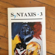 Libros de segunda mano: REVISTA SYNTAXIS - Nº 3 - OTOÑO DE 1983. Lote 103490827