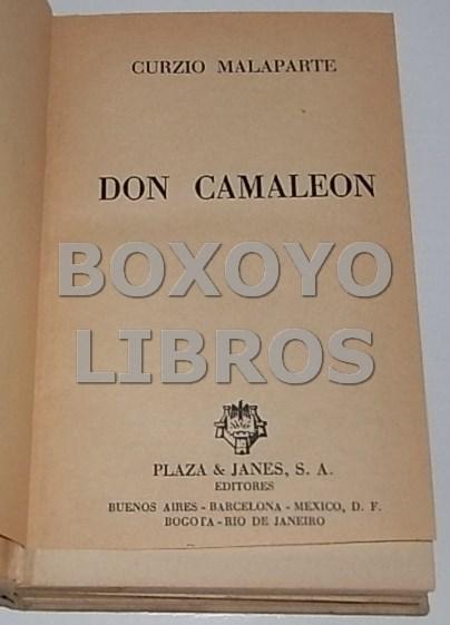 Libros de segunda mano: MALAPARTE, Curzio. Don Camaleón - Foto 2 - 103256654