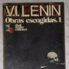Libros de segunda mano: V.I. LENIN. OBRAS ESCOGIDAS 1; AKAL AYUSO (EI). Lote 103892615