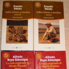Libros de segunda mano: ERNESTO SABATO/ BRYCE ECHENIQUE - LOTE DE DOS NOVELAS - 4 TOMOS. Lote 104317363