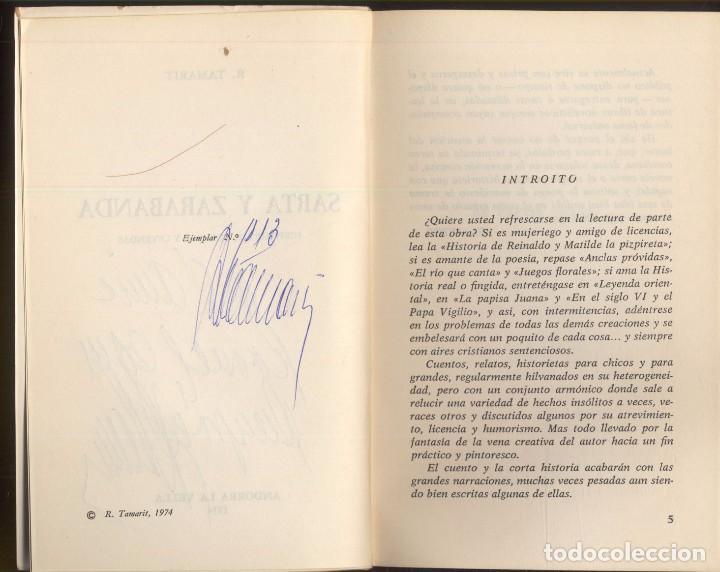 Libros de segunda mano: SARTA Y ZARABANBA - R. TAMARIT.- Historietas, cuentos y leyendas. 1974 - Foto 3 - 104373731