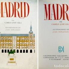 Libros de segunda mano: CELA, CAMILO JOSÉ. MADRID. CALIDOSCOPIO CALLEJERO, MARÍTIMO Y CAMPESTRE DE C.J.C... 1966.. Lote 104777599