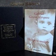 Libros de segunda mano: VIVIR PARA CONTARLA. GABRIEL GARCIA MARQUEZ.CON ESTUCHE TAPA DURA. DEBOLSILLO PRIMERA EDICION 2004.. Lote 106072271