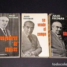 Libros de segunda mano: LOTE DE TRES NOVELAS DE JULIO ESCOBAR.. Lote 107338383