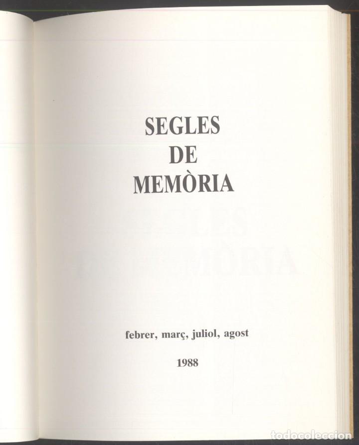 Libros de segunda mano: SEGLES DE MEMORIA - Juli Minoves Triquell - PREMI FITER I ROSSELL - 1988 - ANDORRA - Foto 2 - 107577235