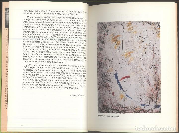 Libros de segunda mano: ECLIPSI PER A UN HOME SOL - Joan Guasp - PREMI SAN CARLES BORROMEU 1992 - ANDORRA - Foto 3 - 107635243