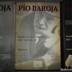 Libros de segunda mano: DESDE LA ÚLTIMA VUELTA DEL CAMINO, 3 TOMOS, PÍO PAROJA, ED. TUSQUETS. Lote 107913567