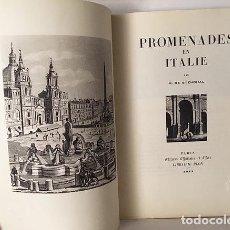 Libros de segunda mano: STENDHAL : PROMENADES EN ITALIE. (PARIS, 1947. PLON. ILUSTRACIONES. Lote 108718255
