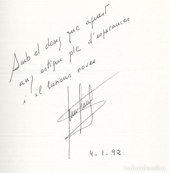 Libros de segunda mano: TRISTAINA ... UN SOMNI ? - JOSEP MA. SAN MARTIN - PREMI SAN CARLES 1990- ANDORRA - Foto 3 - 109839815