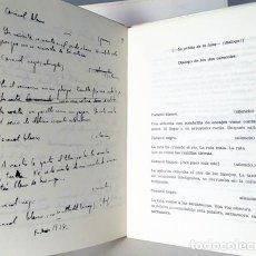 Libros de segunda mano: GARCÍA LORCA : TRES DIÁLOGOS. (1ª ED. FACSÍMILES DE LOS MANUSCRITOS ORIGINALES Y TRANSCRIPCIÓN. . Lote 110076447