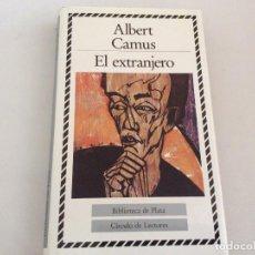 Libros de segunda mano: EL EXTRANJERO. ALBERT CAMUS. CÍRCULO DE LECTORES. 1988. Lote 110085447