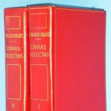 Libros de segunda mano: OBRAS SELECTAS DE ARMANDO PALACIO VALDÉS. DOS TOMOS.. Lote 110938595