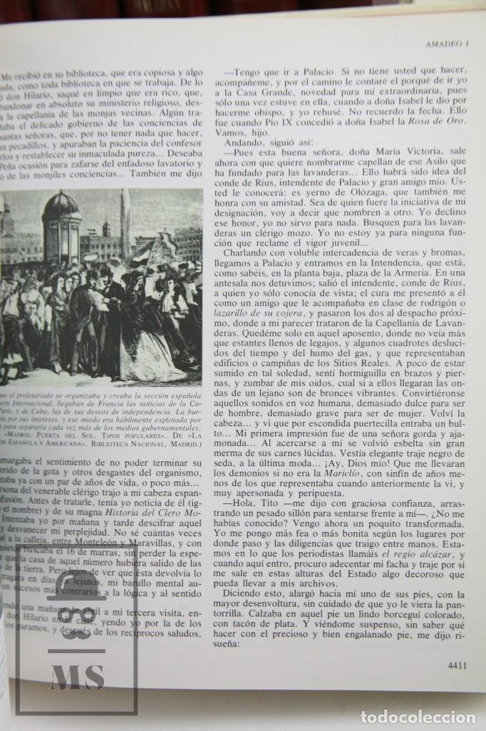 Libros de segunda mano: Colección Completa 10 Libros - Episodios Nacionales. Benito Pérez Galdós - Ed. Urbión/Hernando, 1976 - Foto 6 - 161199533
