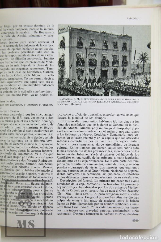 Libros de segunda mano: Colección Completa 10 Libros - Episodios Nacionales. Benito Pérez Galdós - Ed. Urbión/Hernando, 1976 - Foto 7 - 161199533