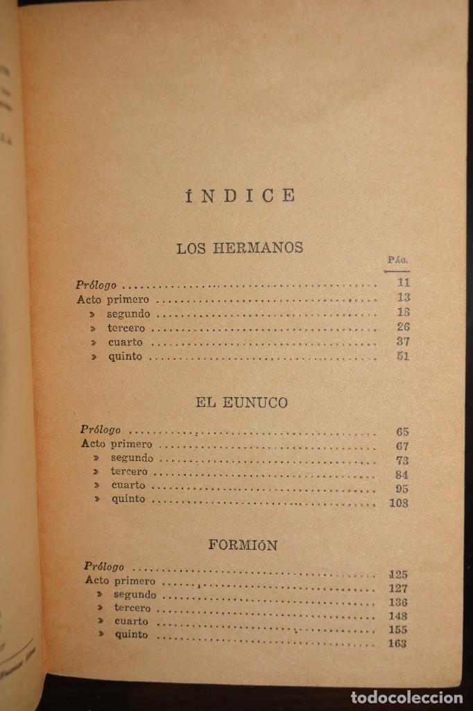 Libros de segunda mano: LOS HERMANOS EL EUNUCO - FORMION. 1947. PRIMERA EDICION. AUSTRAL. AUTOR: PUBLIO TERENCIO AFER - Foto 2 - 112130711