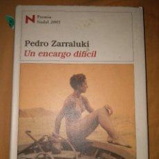 Libros de segunda mano: PEDRO ZARRALUKI DESTINO UN ENCARGO DIFICIL PREMIO NADAL. Lote 112917171