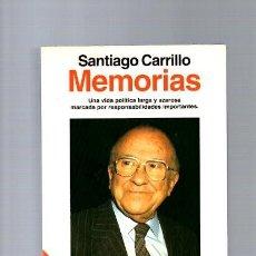 Libros de segunda mano: SANTIAGO CARRILLO - MEMORIAS - EDITORIAL PLANETA 1993 / ILUSTRADO. Lote 113006439