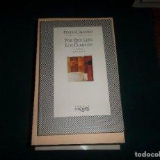 Libros de segunda mano: ITALO CALVINO, POR QUE LEER LOS CLASICOS. TUSQUETS 1995. Lote 113026639